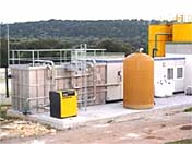 Filtration plant for civil waste refinement